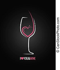 wine glass concept background