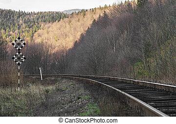 Railway in the mountains - Railway in a mountainous area...