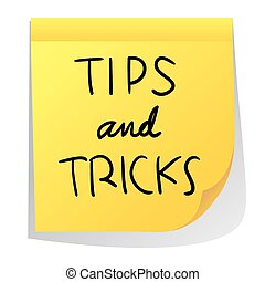 Tips nd Tricks - Vector illustration of sticky paper with...