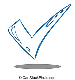 Check Mark - Vector illustration of blue check mark in...