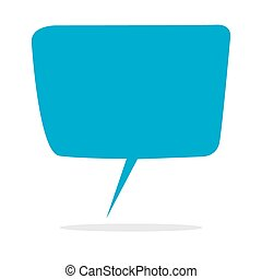 Blank Speech Balloon - Vector illustration of empty blue...