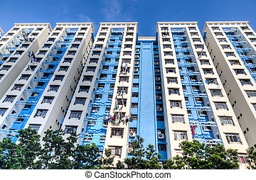 Singapore Public Housing Estate - A typical Singapore...