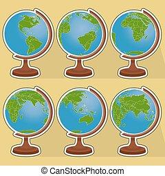 Six globes