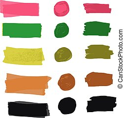 Oil paint - Vector illustration strokes oil paint