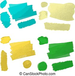strokes oil paint - vector illustration strokes oil paint