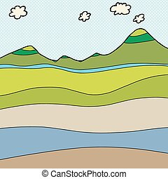 Mountain Cross Section Graphic - Blank water table mountain...