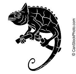 Black Silhouette : Chameleon