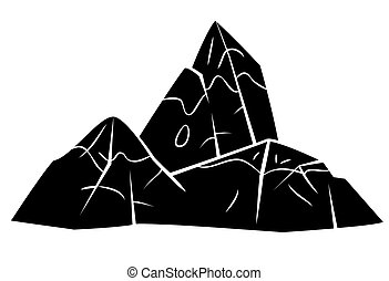 Black Silhouette : Mountain Symbol