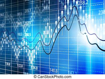 estoque, câmbio, chart, Business, análise,...