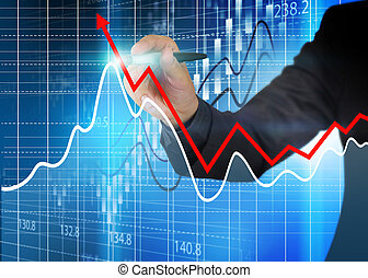 Stock exchange chart,Business analysis diagram