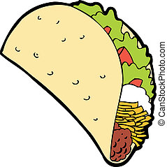 taco cartoon isolated on a white background image