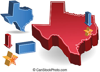 Texas isolated on a white background image.