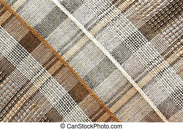 Textures - Plaid Brown - Plaid brown textured background