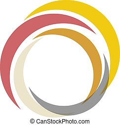 Colored crescents - Illustration of a Colored crescents on...
