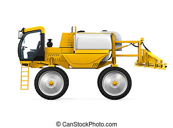 Self Propelled Sprayers isolated on white background. 3D...