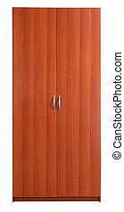 Closet Clipping path - Brown closet over white...