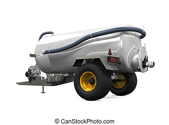 Vacuum Manure Spreader isolated on white background 3D...