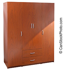 Closet. Clipping path      - Brown closet over white.