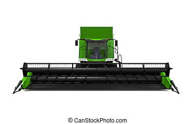 Combine Harvester Isolated on white background. 3D render