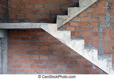 Concrete or cement stairs