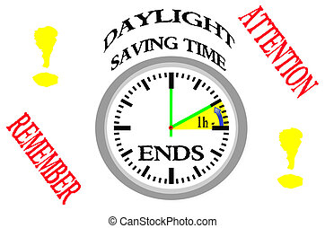 Daylight saving time ends.