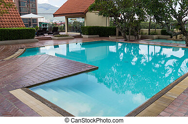 swimming pool on the building - small swimming pool on the...