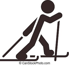 Cross-country skiing icon - Winter sport icon set -...