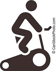 indoor cycling icon - Fitness sports icons set - indoor...