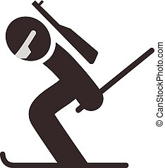 Biathlon icon - Winter sports icons set - Biathlon icon