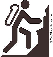 mountaineering icon - Extreme sports icon set -...
