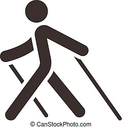 Nordic Walking icon - Health and Fitness icons set - Nordic...