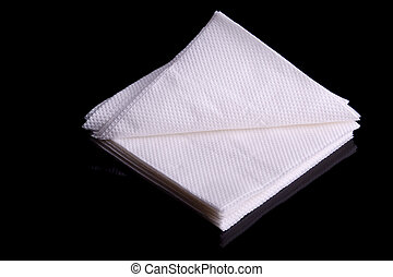 Paper napkins Isolated on black