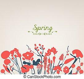 primavera, flor, Feliz, vindima