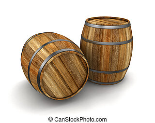 wine barrel Image with clipping path