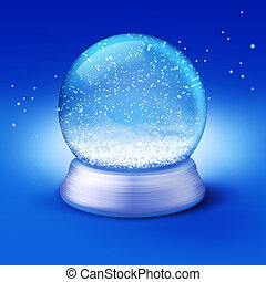 snow globe - Realistic illustration of an empty snow-dome...