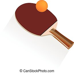 table tennis and ping pong, vector illustration