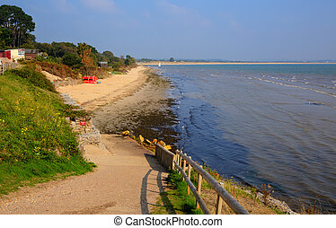 Studland beach Dorset England uk - Studland middle beach...