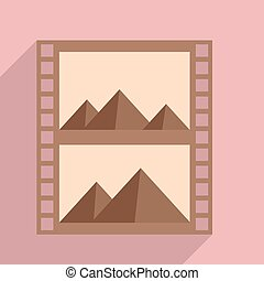 filmstrip - minimalistic illustration of a photography...
