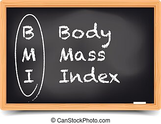 Blackboard BMI - detailed illustration of a blackboard with...