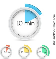 Timers collection - Set of timers - five, ten, fifteen and...