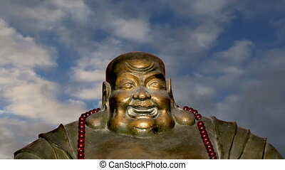 Statue of Buddha-- Beihai Park - Buddhist Temple. Statue of...