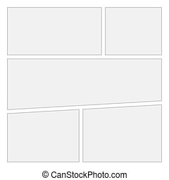Comics blank layout template background Vector Page 1 -...
