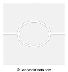 Comics blank layout template background. Vector Page 4