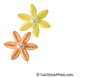 Applique Flowers - Orange and yellow applique flowers...