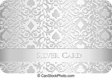 Golden card with card symbols ornament
