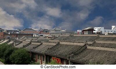 View of the city of Xian Sian, Xian, Shaanxi province, China...