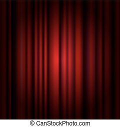 Background with red curtain and lig