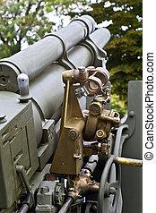 viejo, segundo, mundo, guerra, artillería, Arma