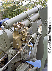 Old second world war artillery weapon
