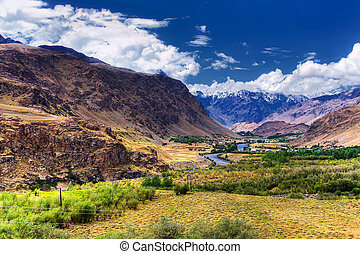 Landscape of Ladakh, Jammu and Kashmir, India - Rocky...